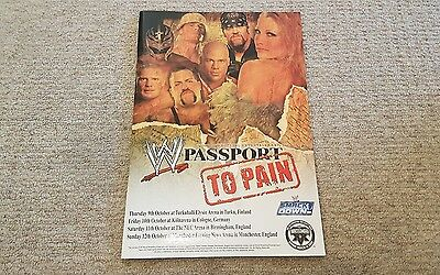 Wwe Smackdown Passport To Pain Tour 2003 Live Event Program