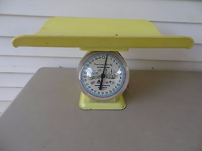 Vintage Yellow American Family Infant/Baby Nursery Scale 30 lbs, Swing Tag