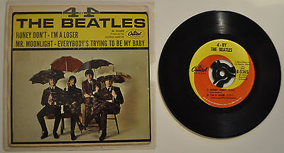4 BY THE BEATLES   rare beatles e.p.  very good vinyl,good sleeve