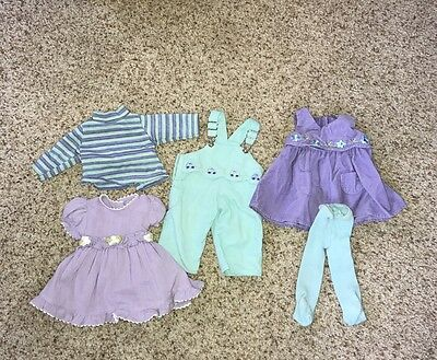 American Girl Bitty Baby Twins Clothing Lot Play Outfit Overalls & Dress + More