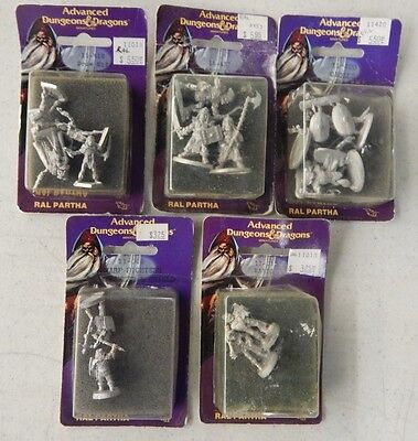 Ral Partha TSR Advanced Dungeons and Dragons OOP Metal Figure NIP Lot