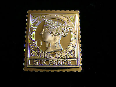 Solid Silver Stamp Ingot Dominica Queen Victoria 1886 One Penny
