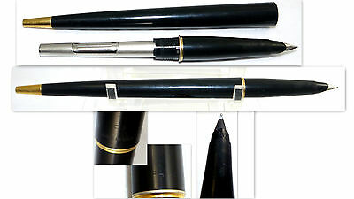 Vtg Parker Fountain Pen Black & Gold Tone Pens Writing Desk Accessories     Pen1