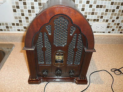 1932 General Electric Cathedral Radio Reproduction Model 7-4100JA Great Shape!
