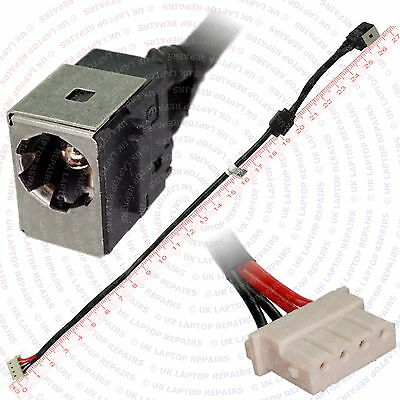 DC Power Jack Socket and Cable Wire C13 F Toshiba Satellite L655 T135 L755 L755D