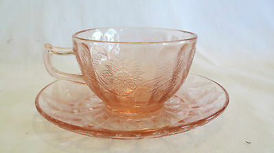 Jeannette Floral Poinsettia Pink Cup & Saucer Set(s)