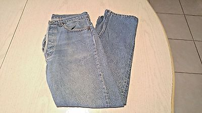"Vintage Levis 501 Jeans Button Fly Selvedge 31 x 28 Distressed ""524"" Top Button"