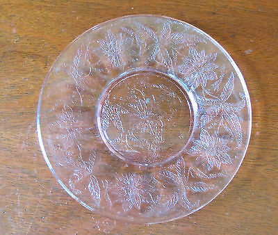 "Jeannette Floral Poinsettia Pink 6"" Bread & Butter Plate(s)"