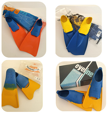 NEW- LAND & SEA, EYELINE Rubber Fins Flippers Swimming ,Training Snorkel ,Dive