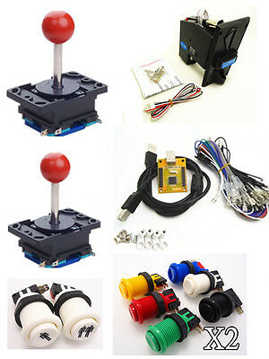 1 kit for Arcade to USB controller 2 player, USB to Jamma with coin acceptor