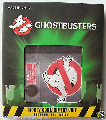 Ghostbusters Money Containment Unit Tyvek Paper Bifold Wallet Bills Credit Cards