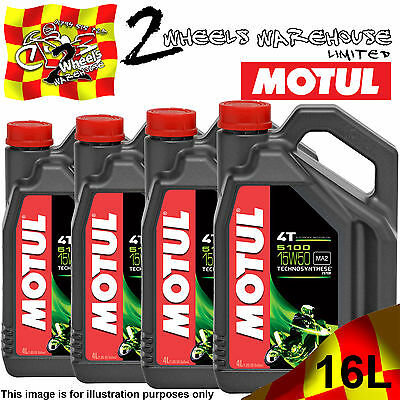 1L 2L 3L 4L 8L 12L 16L Motul 5100 15W50 Ma2 Semi Synthetic Motor Cycle Bike Oil