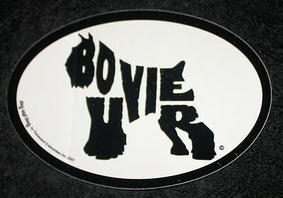 Bouvier des Flandres Oval Euro Style Car Dog Decal Sticker