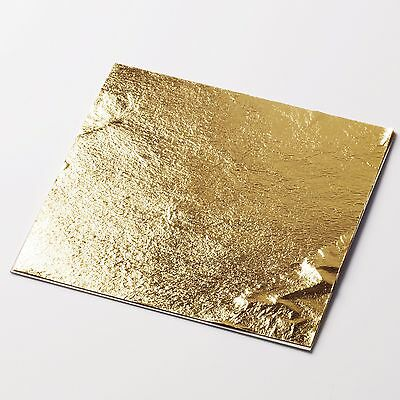 New 1x 11cm Loose-Leaf Gold Sheet - 100% Natural/Edible Gold, Made In Japan
