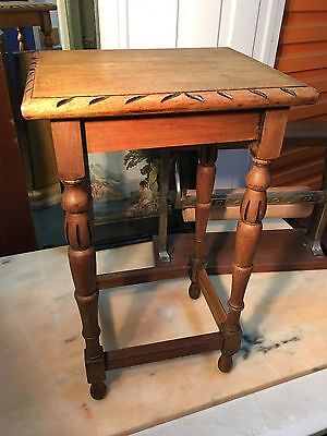 Lovely Solid Vintage 1930's Art Deco Qld Maple Lamp Side Table