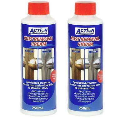 Rust Removal Cream 250ml Action Corrosion Stainless Steel Copper Other Metals x2
