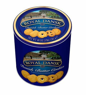 Royal Dansk || Danish Butter Cookies || 3lbs || Steel Can || Brand NEW ||