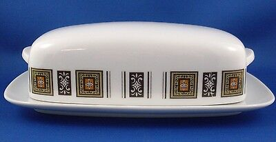 NORITAKE RC Japan 1950's PORCELAIN Covered Butter Dish 791 RINGWOOD Vintage VG