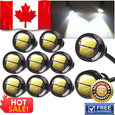 10 x 6K White 5730 9W Eagle Eye LED Car Motor DRL Backup Lights bulbs18mm 12V