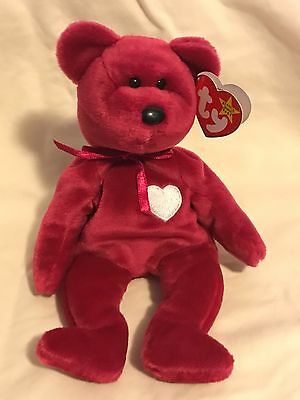 Rare Ty Beanie Babies Valentina the Bear Pink Retired with Tags