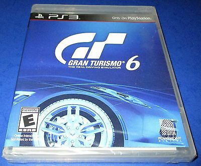 Gran Turismo 6 Sony PlayStation 3 *Factory Sealed! *Free Shipping!