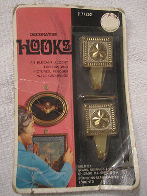 Decorative Hooks Antique Vintage Sears Roebuck  Chicago Picture Hangers