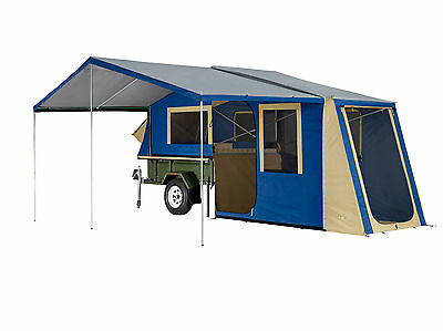 Oztrail Camper 8 Trailer Top Canvas Tent With Included Sunroom And Floor