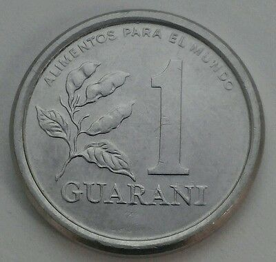 Paraguay 1 Guarani 1978. KM#165. F.A.O. Stainless Steel. One Dollar coin.Tobacco