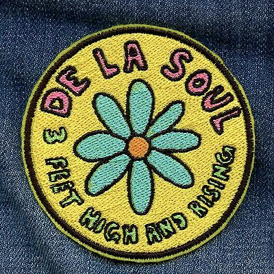 De La Soul • 3 Feet High And Rising • Embroidered Patch • Iron On Hip Hop Patch