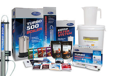 HUGE PRO KIT STEEL Still Spirits Turbo 500 (T500) Condenser FLAVOURS BOILER KIT