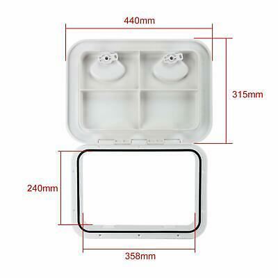 WHITE ACCESS HATCH & LID 315 x 440mm - Marine/Boat/Caravan/RV/Storage Fast Ship