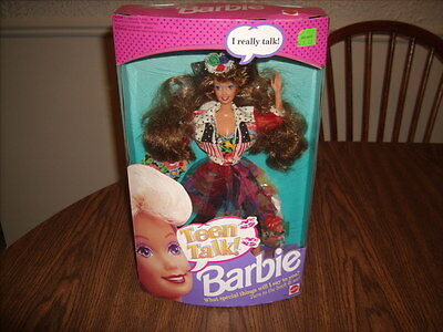 1991 Teen Talk Brunette Collector Mattel Barbie Doll New in SEALED Box
