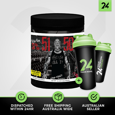 Rich Piana 5% Nutrition 5150 | High Stim Extreme Energy Pre Workout | Free Gift!