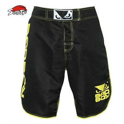 SUOTF Thai Boxing MMA Fighting Fitness Training Sports Trunk Shorts Muay Thai
