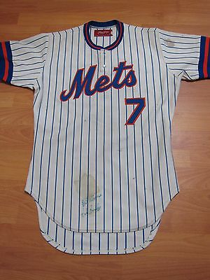 1982 Hubie Brooks New York NY Mets Signed Game Used Game Worn Home Jersey