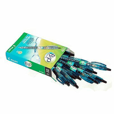 Box of 12, Pilot B2P Black Gel Ink 0.7mm Rollerball Pen, 89% Recycled Content
