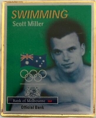Sydney 2000 Olympic pins - Bank of Melbourne Limited Edition - SCOTT MILLER