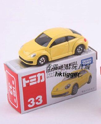 Japan 2013 Tomica 33-2 Volkswagen The Beetle Diecast Car Model-Yellow 438786