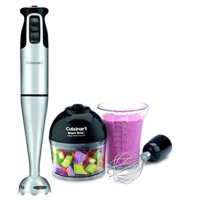 Smart Stick 2-Speed 200-watt Immersion wired Hand Blender With Attachments, New