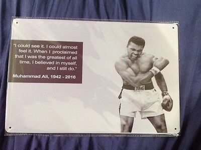 MUHAMMAD ALI 1942 - 2016 - Metal Tin Sign - Boxing fight everlast man cave