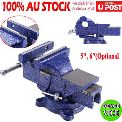 Steel 5'' 6'' Heavy Duty Engineers Bench Vice Semi Precision Level Swivel Base