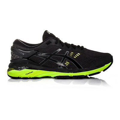 Asics Gel-Kayano 24 mens Black Support Running Sports Shoes Trainers Pumps