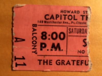 Grateful Dead New Riders Capitol Theatre Port Chester NY Feb 20 1971 ticket stub