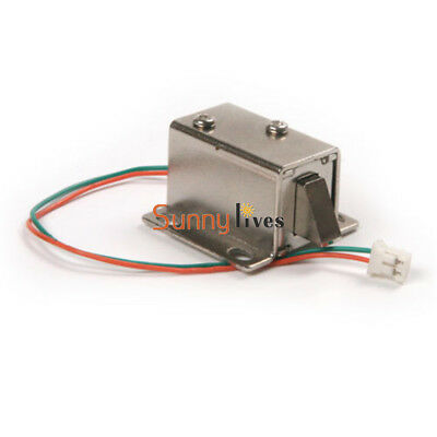 DC 12V Electric Solenoid Lock Tongue Upward Assembly for Door Cabinet Drawer New