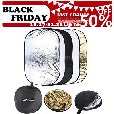 Photography 5 in1 Light Collapsible Portable Photo Reflector 60x90cm Diffuser US