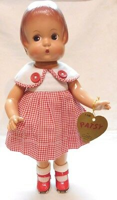 Patsy Doll By Effanbee Red Roller Skates Reproduction W Tag