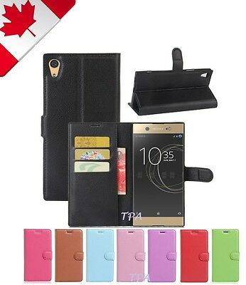 Wallet Leather Cardholder Flip PU Case Cover For Sony Xperia XA1