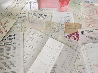 Old Paperwork 1970s  And 80s Lot 1
