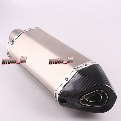 18.1''Slip On Exhaust Muffler Silencer End Can Fot Honda Yamaha Suzuki Motors