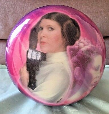 RARE NOW STAR WARS Leia/Amidala Viz-A-Ball BRUNSWICK BOWLING BALL TEN PIN